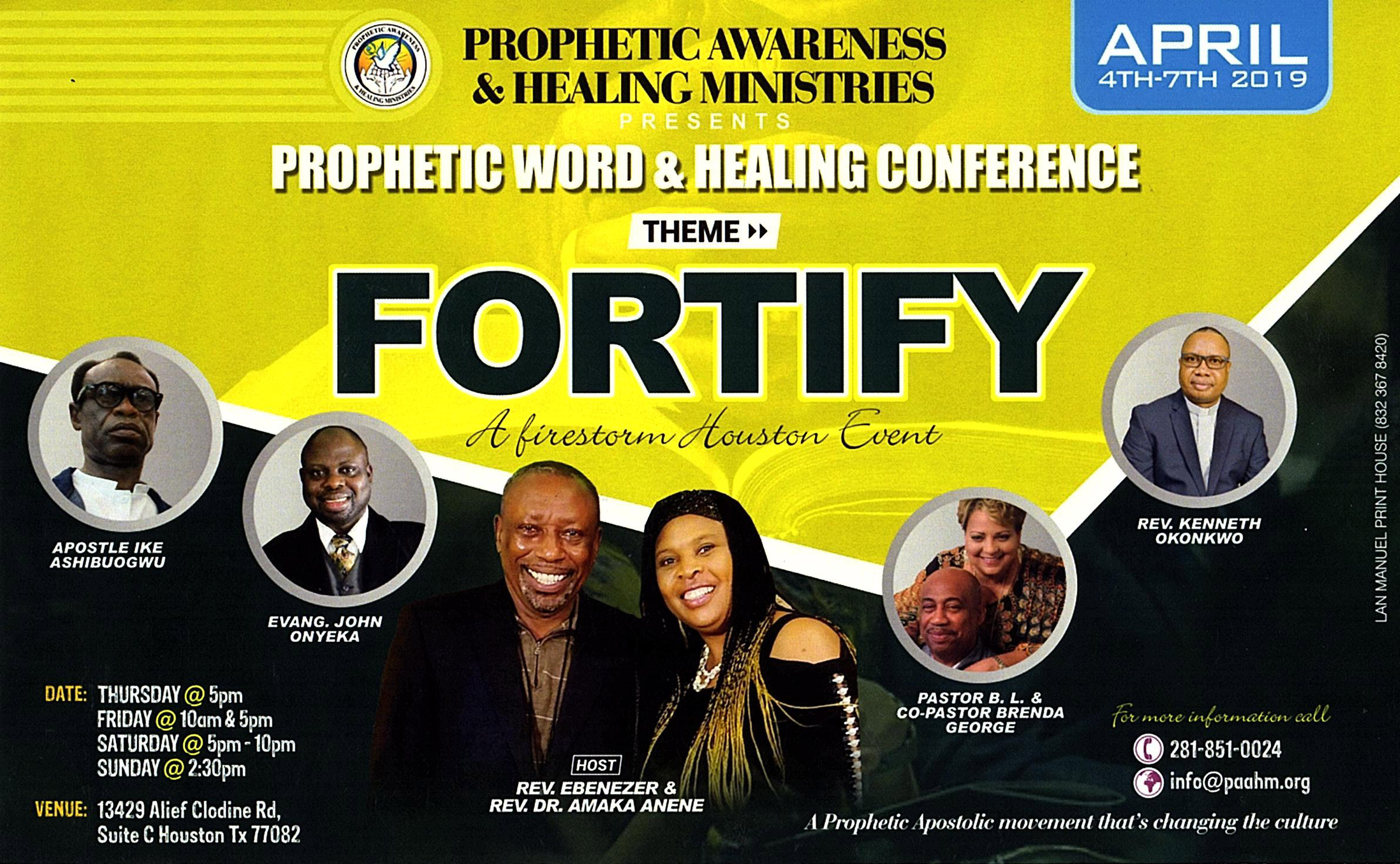 FORTIFY: PAAHM Prophetic Word & Healing Conference